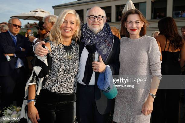 Judith Milberg Juergen Flimm outgoing director of Staatsoper and Christiane Paul attend the 'Staatsoper fuer alle' at Hotel De Rome on September 30...