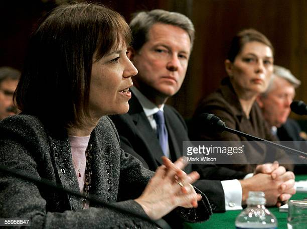 Judith Miller a New York Times reporter testifies while David Westin president of ABC News Anne Gordon managing editor of the Philadelphia Inquirer...