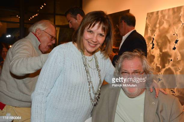 Judith Miller and Donald Sultan attend Boom Mad Money Mega Dealers and the Rise of Contemporary Art Book Party at Private Residence Southampton NY on...