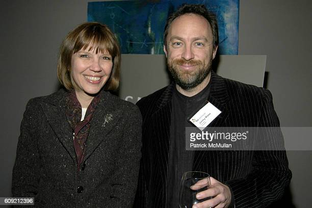 Judith Miller and Jimmy Wales attend The Glasshouse New York An Evening With Wikipedia founder Jimmy Jimbo Wales Moderated By Journalist Judith...