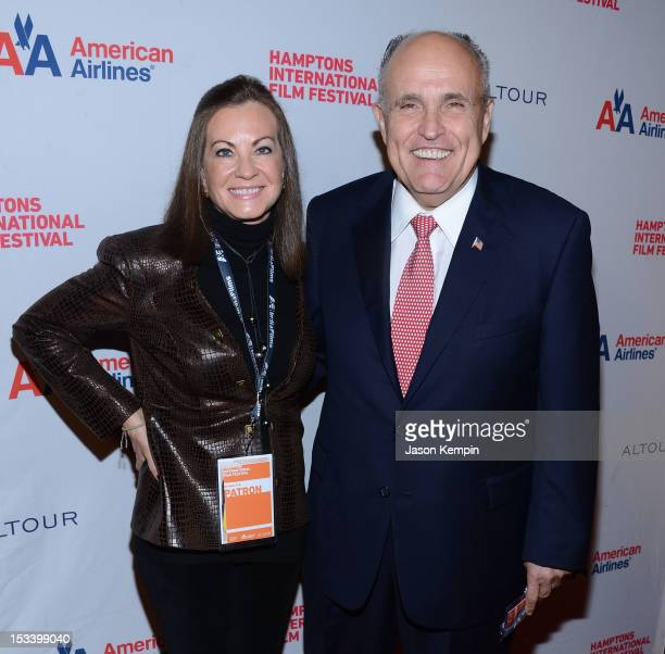 """Judith Nathan and Rudy Giuliani attend the 20th Hamptons International Film Festival Opening Night Screening of """"Love Marilyn"""" at Guild Hall on..."""