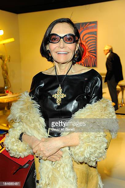 Judith Price attends the VIP Preview during the PAD London Art Design Fair at Berkeley Square Gardens on October 15 2013 in London England