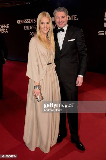 Judith Rakers and Andreas Pfaff arrive for the Goldene Kamera on March 4 2017 in Hamburg Germany