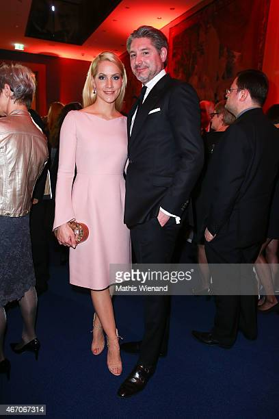 Judith Rakers and Andreas Pfaff attend the De Medici Hotel Grand Opening on March 20 2015 in Duesseldorf Germany