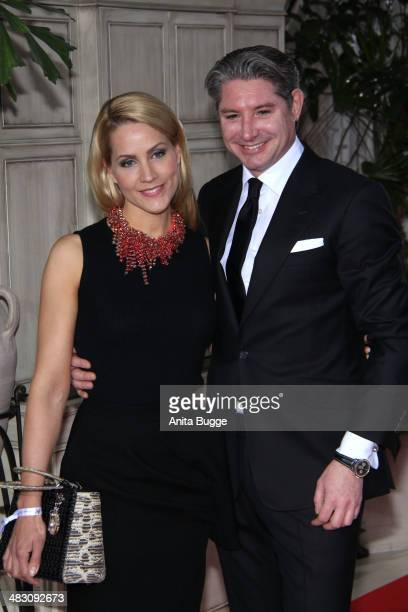 Judith Rakers and Andreas Pfaff attend the Felix Burda Award 2014 at Hotel Adlon on April 6 2014 in Berlin Germany