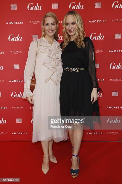 Judith Rakers and Anne MeyerMinnemann attends the 'Gala' fashion brunch during the MercedesBenz Fashion Week Berlin A/W 2017 at Ellington Hotel on...