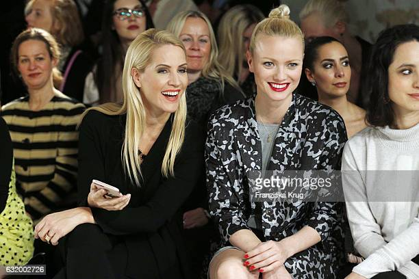 Judith Rakers and Franziska Knuppe attend the Laurel show during the MercedesBenz Fashion Week Berlin A/W 2017 at Kaufhaus Jandorf on January 18 2017...