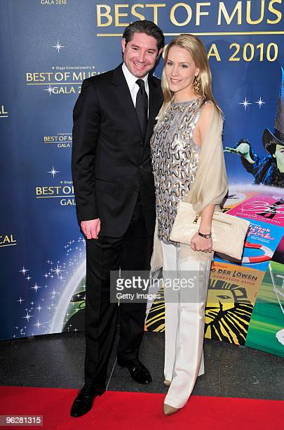 Judith Rakers and her husband Andreas Pfaff attend the 'Best of Musical Gala 2010' at the Color Line Arena on January 30 2009 in Hamburg Germany