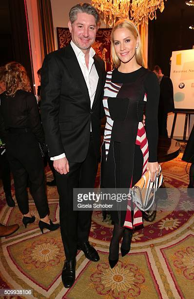 Judith Rakers and her husband Andreas Pfaff during the Bunte and BMW Festival Night 2016 during the 66th Berlinale International Film Festival Berlin...