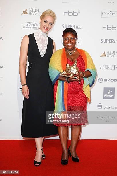 Judith Rakers and Juliana Luisa Gombe attend Madeleine At Goldene Henne 2015 on September 05 2015 in Berlin Germany