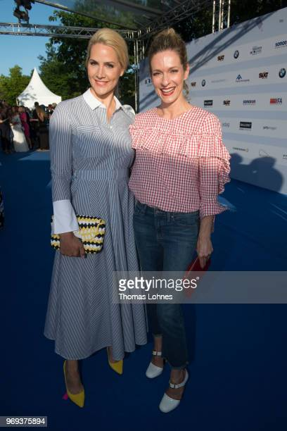 Judith Rakers and Lisa Martinek attends the summer party 2018 of the German Producers Alliance on June 7 2018 in Berlin Germany