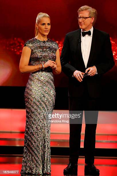 Judith Rakers and Theo Koll attend the Deutscher Fernsehpreis 2013 Show at Coloneum on October 02 2013 in Cologne Germany The show will be aired in...