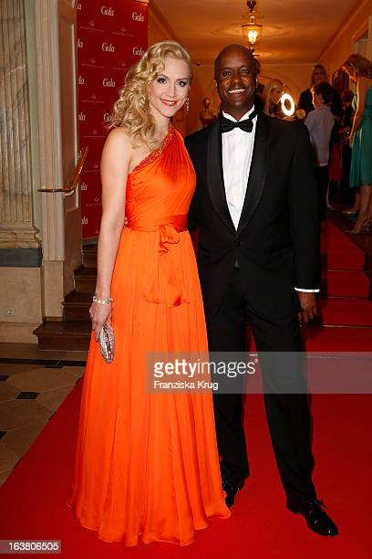 Judith Rakers and Yared Dibaba attend the Gala Spa Awards 2013 at the Brenners Park Hotel on March 16, 2013 in Berlin, Germany.