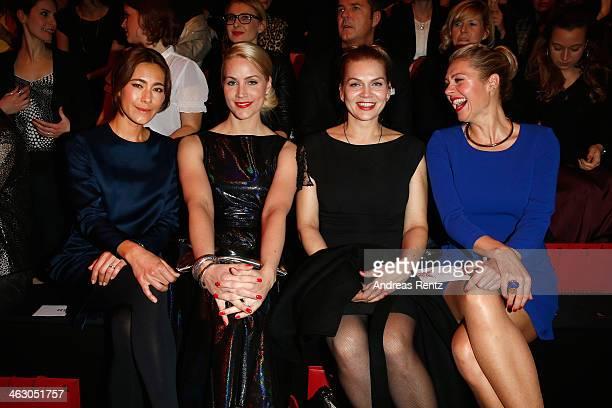 Judith Rakers Angela Gessmann Anna Loos and Ruth Moschner attend the Guido Maria Kretschmer Show during MercedesBenz Fashion Week Autumn/Winter...