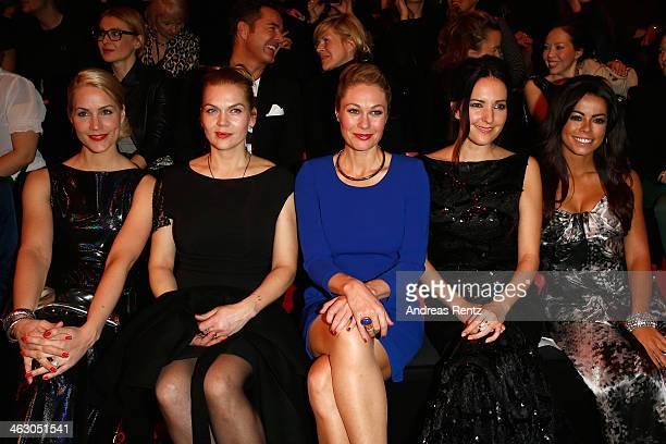 Judith Rakers Anna Loos Ruth Moschner Johanna Klum and Fernanda Brandao attend the Guido Maria Kretschmer Show during MercedesBenz Fashion Week...