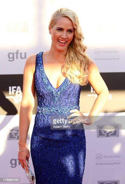 Judith Rakers arrives for the IFA 2013 Consumer Technology Trade Fair Opening Gala at Messe Berlin on September 5 2013 in Berlin Germany