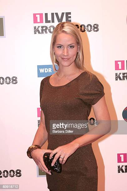 Judith Rakers attends the ''1Live Krone'' awards on December 4 2008 in Bochum Germany