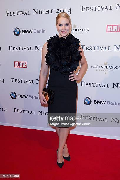 Judith Rakers attends the Bunte BMW Festival Night 2014 at Humboldt Carree on February 7 2014 in Berlin Germany