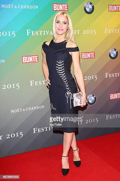 Judith Rakers attends the Bunte BMW Festival Night 2015 on February 06 2015 in Berlin Germany