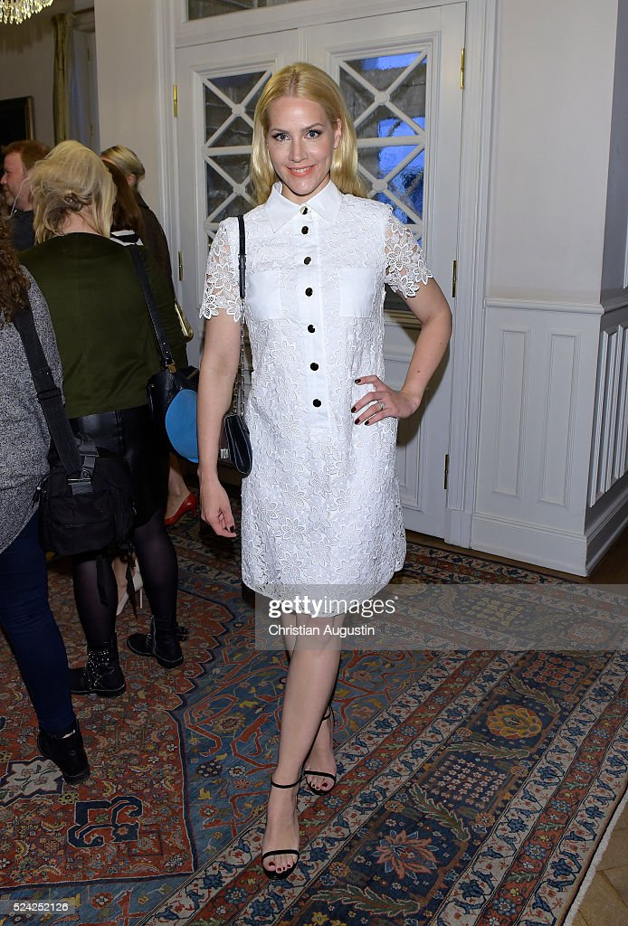 Judith Rakers attends the 'Champagnepreis fuer Lebensfreude' at Hotel Louis C Jacob on April 25, 2016 in Hamburg, Germany.