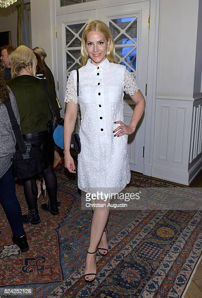 Judith Rakers attends the 'Champagnepreis fuer Lebensfreude' at Hotel Louis C Jacob on April 25 2016 in Hamburg Germany