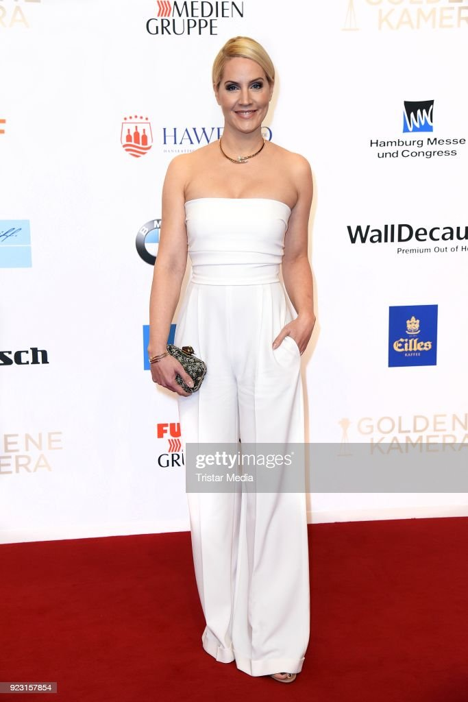 Judith Rakers attends the Goldene Kamera (Golden Camera Awards) on February 22, 2018 in Hamburg, Germany.