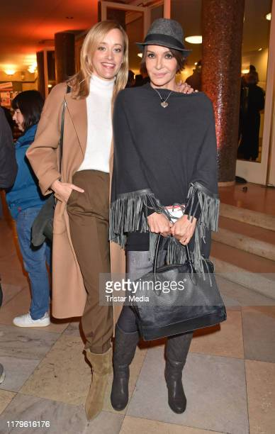 "Judith Richter and Anouschka Renzi attend the Rio Reiser premiere ""Mein Name Ist Mensch"" at Komoedie am Kurfuerstendamm at Schiller-Theater on..."