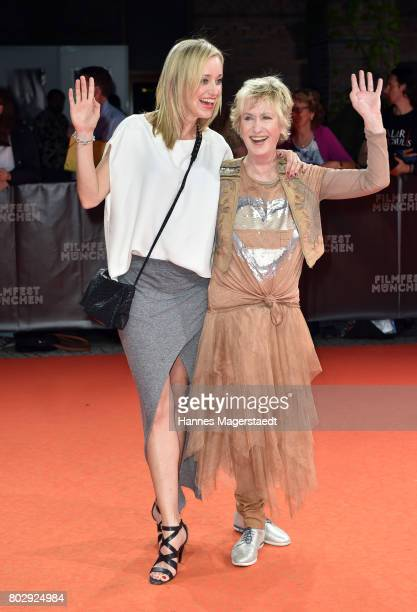 Judith Richter and Beatrice Richter attend the 'Berlin Fallen' Premiere during Munich Film Festival 2017 at Gasteig on June 28 2017 in Munich Germany