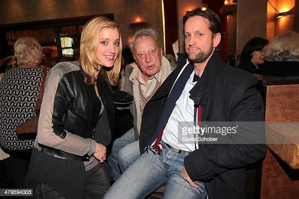 Judith Richter and her father Heinz Baumann and his son Patrick Wosin attend the NDF After Work Presse Cocktail at Parkcafe on March 19 2014 in...