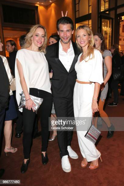 Judith Richter Florian Odendahl Nina Gnaedig during the opening night of the Munich Film Festival 2018 reception at Hotel Bayerischer Hof on June 28...