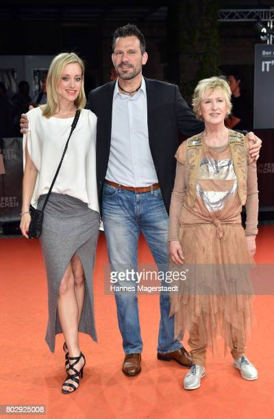 Judith Richter Oliver Lang and Beatrice Richter attend the 'Berlin Fallen' Premiere during Munich Film Festival 2017 at Gasteig on June 28 2017 in...