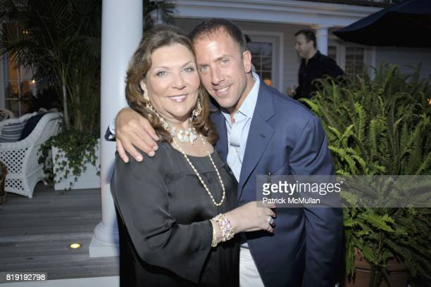 Judith Ripka and Michael Cominotto attend QVC Style Initiative Dinner hosted by CEO Mike George at the home of Dennis Basso and partner Michael...
