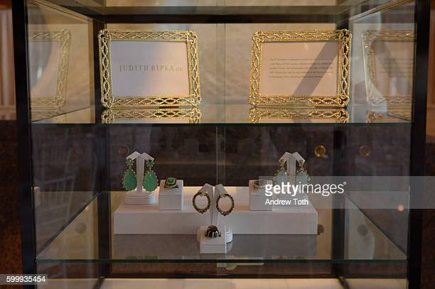 Judith Ripka's jewelry are seen on display at the 2016 Couture Council of The Museum at FIT Honoring Akris Creative Director Albert Kriemler at...