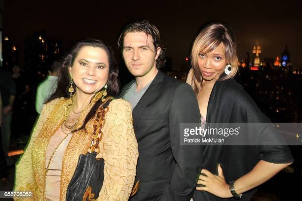 Judith Seeherman John Magzalcioglu and Tia Walker attend RICHIE RICH Hosts CHRIS COFFEE's Birthday Party at the GARDEN IN THE SKY at Cooper Square...