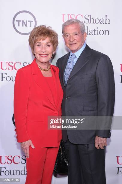 Judith Sheindlin Judge Judy and Judge Jerry Sheindlin attend the USC Shoah Foundation Institute 2013 Ambassadors for Humanity gala at the American...