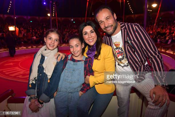 Judith Williams and Alexander Klaus Stecher with their daughters Angelina and Sophia during the premiere of Circus Roncalli's Storyteller Gestern...