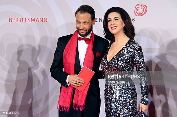 Judith Williams and AlexanderKlaus Stecher attend the charity event 'Rosenball' at Hotel Intercontinental on April 30 2016 in Berlin Germany