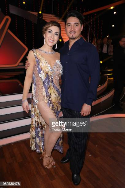 Judith Williams and Erich Klann during the 10th show of the 11th season of the television competition 'Let's Dance' on May 25 2018 in Cologne Germany