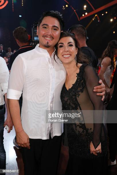 Judith Williams and Erich Klann during the semi finals of the 11th season of the television competition 'Let's Dance' on June 1 2018 in Cologne...