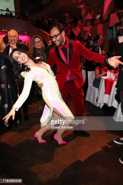 Judith Williams and her husband Alexander Klaus Stecher dance during the 47th German Film Ball party at Hotel Bayerischer Hof on January 18 2020 in...