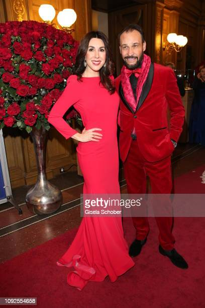 Judith Williams and her husband Alexander Klaus Stecher during the 14th Semper Opera Ball 2019 at Semperoper on February 1 2019 in Dresden Germany