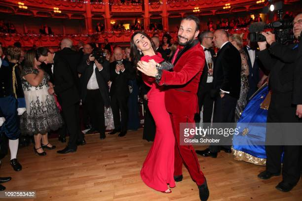 Judith Williams and her husband Alexander KlausStecher dance during the 14th Semper Opera Ball 2019 at Semperoper on February 1 2019 in Dresden...