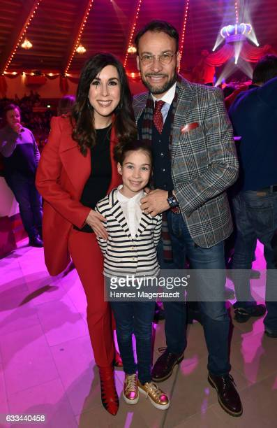 Judith Williams and her husband AlexanderKlaus Stecher and daughter Angelina Stecher during the 'AllezHopp' premiere at Circus Krone on February 1...