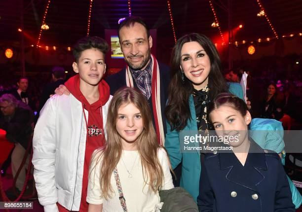 Judith Williams and her husband AlexanderKlaus Stecher and his son Vincent and their daughter Angelina and Sophia during Circus Krone Celebrates...
