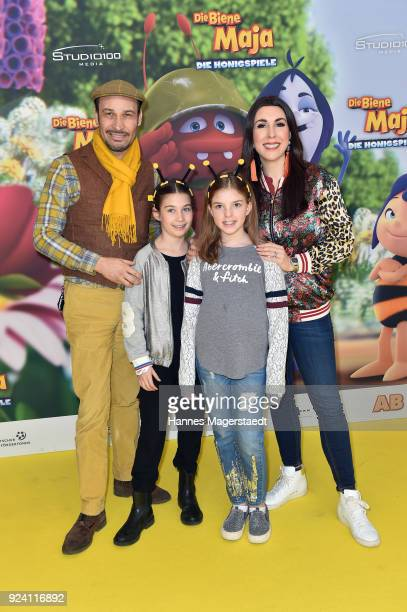 Judith Williams and her husband AlexanderKlaus Stecher and their daughters Sophia and Angelina attend the premiere of 'Biene Maja Die Honigspiele' at...