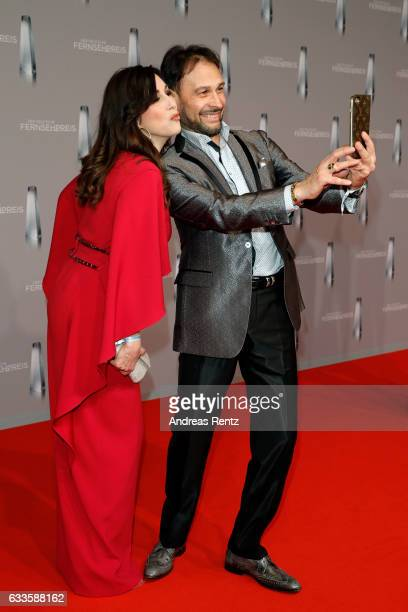 Judith Williams and her husband AlexanderKlaus Stecher attend the German Television Award at Rheinterrasse on February 2 2017 in Duesseldorf Germany