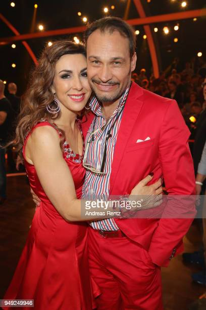 Judith Williams and her husband AlexanderKlaus Stecher smile during the 5th show of the 11th season of the television competition 'Let's Dance' on...
