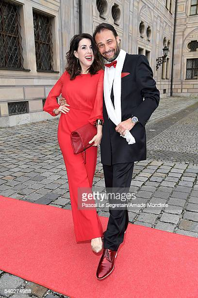 Judith Williams and husband Alexander Klaus Stecher attend the AMADE Deutschland Charity dinner on June 14 2016 in Munich Germany
