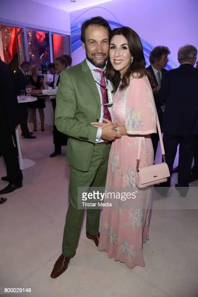 Judith Williams and husband AlexanderKlaus Stecher attend the Bertelsmann Summer Party on June 22 2017 in Berlin Germany