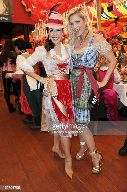 Judith Williams and Sarah Kern attend the 'Sixt Damenwiesn' as part of the Oktoberfest beer festival at Hippodrom beer tent on September 24 2012 in...